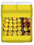 Yellow Apples Duvet Cover by Carlos Caetano