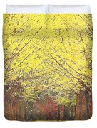 Yellow Trees Duvet Cover by Kume Bryant