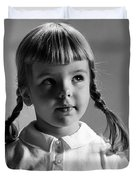 Young Girl Duvet Cover by Hans Namuth and Photo Researchers