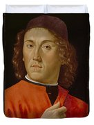 Young Man  Duvet Cover by Domenico Ghirlandaio