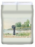 Young Woman Duvet Cover by Winslow Homer