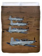 A Formation Of Iraqi Air Force T-6 Duvet Cover by Stocktrek Images