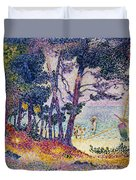 A Pine Grove Duvet Cover by Henri-Edmond Cross