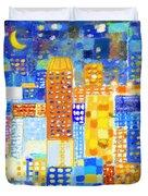 Abstract City Duvet Cover by Setsiri Silapasuwanchai