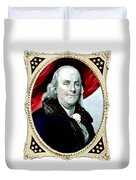 Ben Franklin Duvet Cover by War Is Hell Store