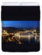 Budapest. View From Gellert Hill Duvet Cover by Michal Bednarek