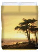 California Coast Duvet Cover by Albert Bierstadt