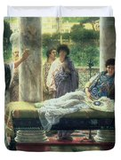 Catullus Reading his Poems Duvet Cover by Sir Lawrence Alma-Tadema