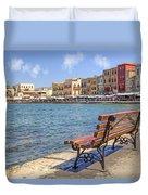 Chania - Crete Duvet Cover by Joana Kruse