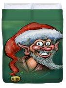 Christmas Elf Duvet Cover by Kevin Middleton