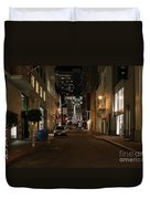 Christmas Eve 2009 On Maiden Lane In San Francisco Duvet Cover by Wingsdomain Art and Photography