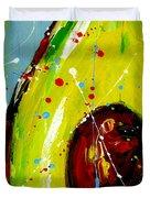Crazy Avocado Duvet Cover by Patricia Awapara