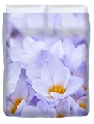 Crocus Flowers Duvet Cover by Elena Elisseeva