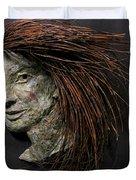 Daisy A Relief Sculpture By Adam Long Duvet Cover by Adam Long