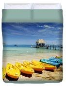 Fiji, Malolo Island Duvet Cover by Himani - Printscapes