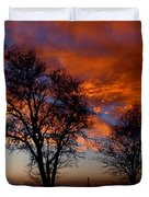 Fire in the Sky Duvet Cover by Peter Piatt