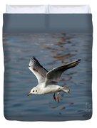 Flying Gull Duvet Cover by Michal Boubin