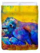 Gorilla Gorilla Duvet Cover by Betty LaRue