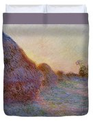 Haystacks Duvet Cover by Claude Monet