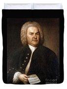 Johann Sebastian Bach, German Baroque Duvet Cover by Photo Researchers