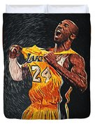 Kobe Bryant Duvet Cover by Taylan Soyturk