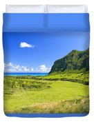 Kualoa Ranch Mountains Duvet Cover by Dana Edmunds - Printscapes