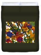 Leaves Of Autumn Duvet Cover by Stephen Anderson