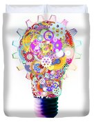 light bulb design by cogs and gears  Duvet Cover by Setsiri Silapasuwanchai