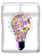 Light Bulb Design By Cogs And Gears  Duvet Cover by Setsiri Silapasuwanchai