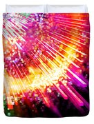 Lighting Explosion Duvet Cover by Setsiri Silapasuwanchai