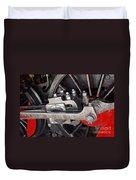 Locomotive Wheel Duvet Cover by Carlos Caetano