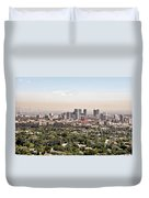 Los Angeles California - Glitter And Trouble Duvet Cover by Christine Till