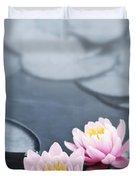 Lotus blossoms Duvet Cover by Elena Elisseeva