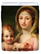 Madonna And Child Duvet Cover by Anton Raphael Mengs