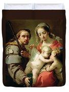 Madonna And Child Duvet Cover by Gaetano Gandolfi