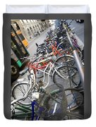 Many Bikes Duvet Cover by Marilyn Hunt