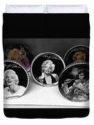 Marilyn And Elvis Duvet Cover by Daniel Hagerman