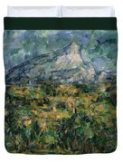 Mont Sainte Victoire Duvet Cover by Paul Cezanne
