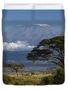 Mount Kilimanjaro Duvet Cover by Michele Burgess
