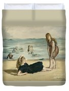 On The Beach Duvet Cover by Edouard Manet