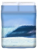 Perfect Wave At Pipeline Duvet Cover by Vince Cavataio - Printscapes