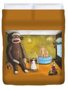 Playroom Nightmare 2 Duvet Cover by Leah Saulnier The Painting Maniac