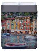 Portofino Al Crepuscolo Duvet Cover by Guido Borelli
