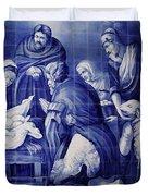 Portuguese Azulejo Tiles Duvet Cover by Gaspar Avila