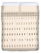 Punch Card Duvet Cover by Photo Researchers, Inc.