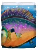 Rainbow Fish Duvet Cover by Kevin Middleton