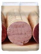 Red Wine Corks Duvet Cover by Frank Tschakert