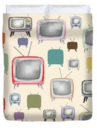 retro TV pattern  Duvet Cover by Setsiri Silapasuwanchai