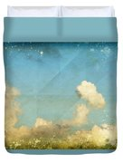 Sky And Cloud On Old Grunge Paper Duvet Cover by Setsiri Silapasuwanchai