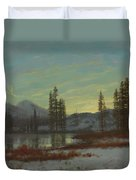 Snow In The Rockies Duvet Cover by Albert Bierstadt